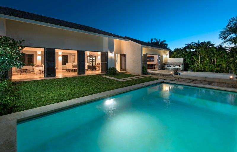 LOT 20 FOR RENT OCT-2018 OCT-2018 REAR EXTERIOR OVER POOL DUSK big